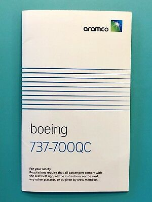 Saudi Aramco Oil Airlines Safety Card-737-700