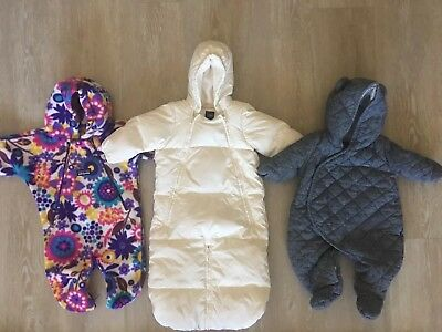 Lot Of 3 Baby Snowsuits Baby Gap Patagonia 0-3months