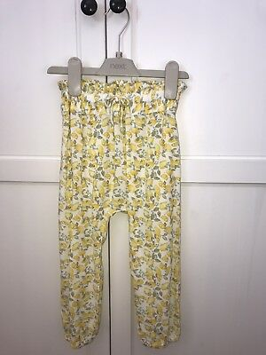 Gorgeous New Next Girls Lemon Print Trousers - Size 2-3 Years