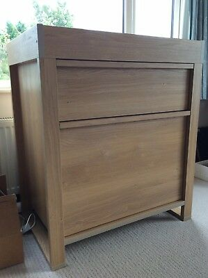 Baby Changing Dresser Station Unit With Drawers