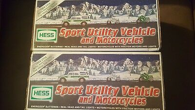 Hess Sport Utility Vehicle And Motorcycles 2004 Hess Toy Truck - Mint In Box (1)