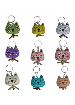 Sass and Belle Vintage Cat Kitten Charm Keyring Quirky Gift, One Supplied