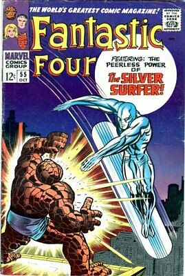 Fantastic Four #55 Marvel Silver Age 1966 Silver Surfer & Thing battle