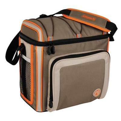 Coleman 3000002168 Removable Hard Liner 30 Can Tan/Orange Outdoor Soft Cooler