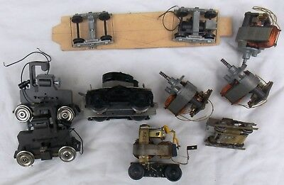 Lot of Vintage O Scale Motors and Powered Trucks Some Brass
