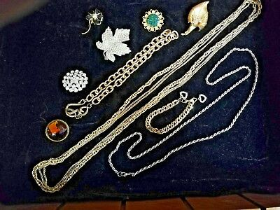 Vintage Mixed Lot Of Costume Jewellery