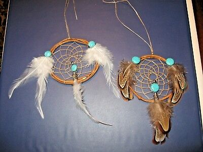 Two Native American Indian Dream Catchers by Bellamino Acoma Pueblo