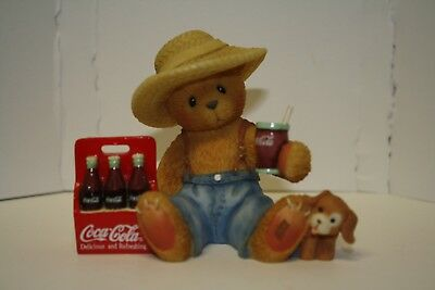 Cherished Teddies Dewey Coca-Cola Figurine