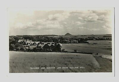 Gullane - a photographic postcard of Gullane and Berwick Law from Gullane Hill