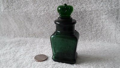 Green antique bottle Larking soap co Buffalo with original crown stopper 1890s