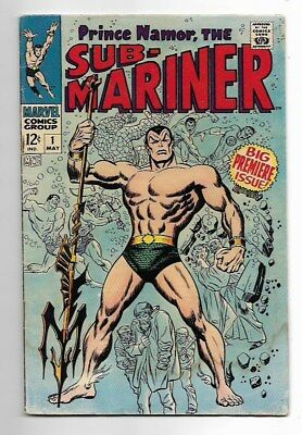 Sub-Mariner #1 (1968 Marvel) Silver Age - Low Grade! w/Major Staining! See Pics!