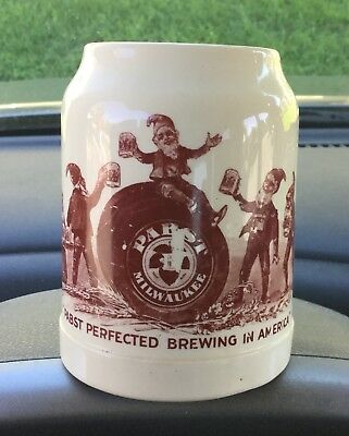 Pre-1920's Pabst Advertizing Stoneware Mug, Outstanding