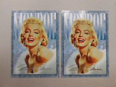 1993 Marilyn Monroe foil signature promo card lot of 2! Silver and gold NM/MN!