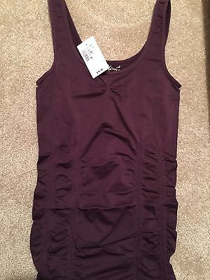 Gorgeous Kismet Plum Seamless Long Tank Top/Camisole NWT ~ Soft!