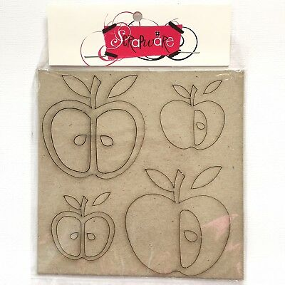Scrapware Apples Chipboard  Craft, Decor, Card, Kids Craft Art Journal