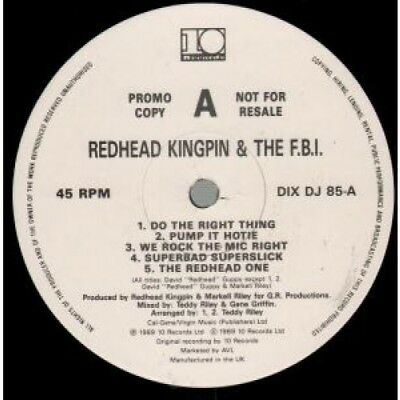 REDHEAD KINGPIN AND THE FBI A Shade Of Red LP VINYL UK 10 1989 10 Track 45Rpm