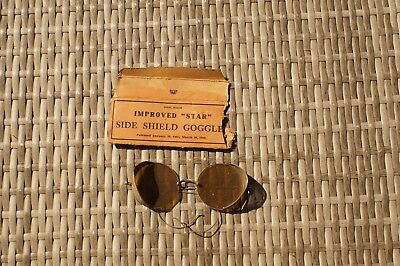 Antique Willson Amber Sunglasses Goggles Mesh Side