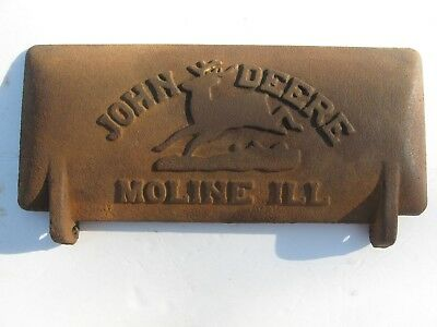 Vtg John Deere Horse Drawn Sickle Mower Cast Iron Tool Box Lid Tractor Z412-H