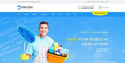 Cleaning Services Company Website Responsive Design/Only $7.99 - Free Setup