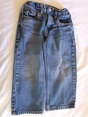 LEVI'S 549 Baby blue JEANS 3T Pants Relaxed straight elastic waist