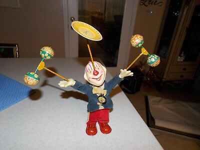 *RARE* Vintage Antique Juggling Tin Wind Up Clown Toy *RARE*