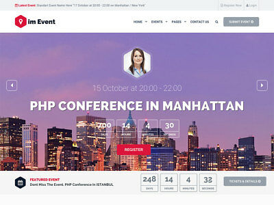 RESPONSIVE PARTY, WEDDING PLANNER WEBSITE / Only $7.99 - Free Setup
