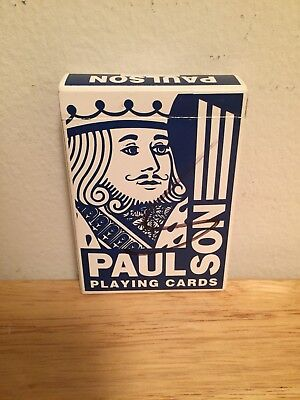 Paulson Playing Cards Las Vegas Nevada Stamped & Signed