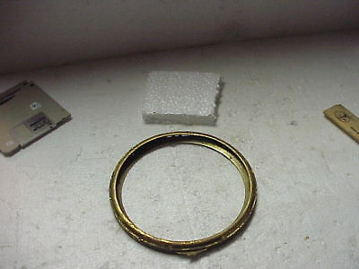 "Used 5 ¾"" Brass Clock Bezel & Mounting Ring parts repair K"
