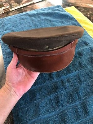 "Original WWII ""Crusher"" Dress Hat Small Size"