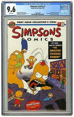 SIMPSONS COMICS #1 CGC 9.6 WHITE Pages