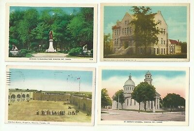 Great Lot Of 4 Kingston, Ontario, Canada Vintage Postcards   *de-451*