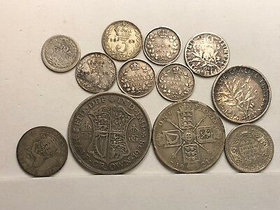 Great Lot of (12) SILVER Coins