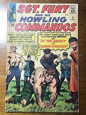 Sgt Fury and His Howling Commandos, #5, First Appearance Baron Stucker (1964)