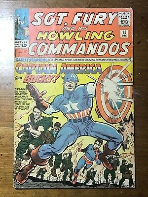 Sgt Fury and His Howling Commandos, #13, Captain America and Bucky (1964)