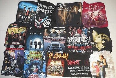 Lot Of 14 Concert T Shirts Vintage T Shirts Vintage Tees Rock Pop Country Metal