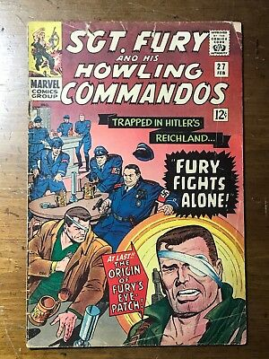 Sgt Fury and His Howling Commandos, #27, The origin of Fury's eye patch (1966)