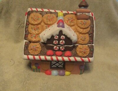 Lucy and & Me Bears Gingerbread House Candy Cookie Jar Lucy Rigg VERY RARE HTF