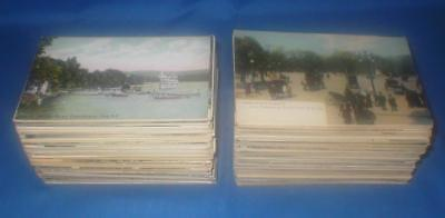 Lot Of 400 Plus Vintage New York State Postcards Towns Cities Bldgs Scenes Lakes
