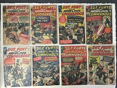 Sgt Fury and His Howling Commandos LOT, 21 issues, #3, 6-12, 14-26 (1963-1966)