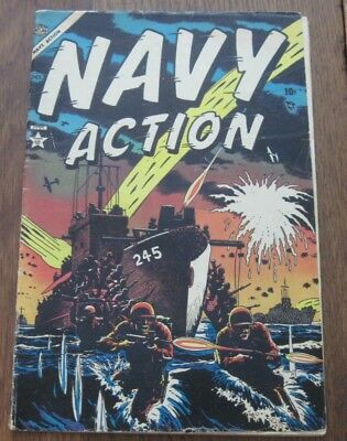 Navy Action #2 Marvel Atlas Golden  Age 1954 War Comics Nice Second Issue!!