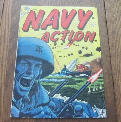 Navy Action #1 Marvel Atlas Golden  Age 1954 War Comics Nice First Issue!!