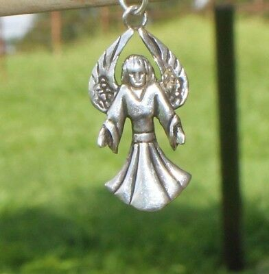 Beautiful  Vintage Sterling Silver Angel Charm Marked +Mm 925 Free Shipping