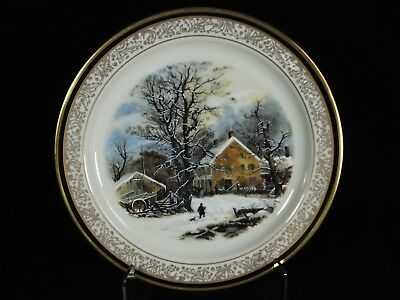 Lenox Limited Issue Christmas Plate 1987 Winter In The Country A Cold Morning