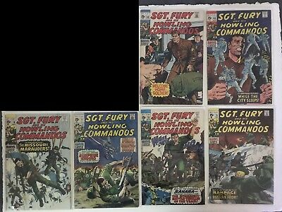Sgt Fury and His Howling Commandos LOT, 13 issues, #68-80 (1969-1970)