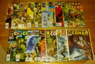 Comic 17 Issues 3 Are The Savage Sword Of Conan The Barbarian & 14 Are Saga C4