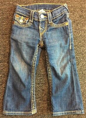 TRUE RELIGION Boot Cut Denim Jeans, Toddler Size 2