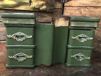 Antique Treadle Sewing Machine Cabinet Drawers with Hidden Drawers!