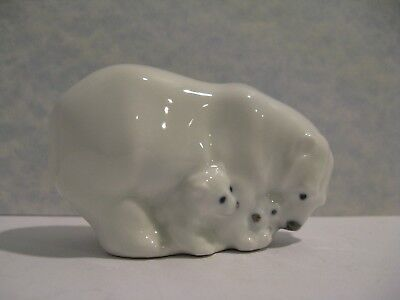 Royal Copenhagen # 4780 Polar Bear w/Cubs Miniature Figurine by Jeanne Grut