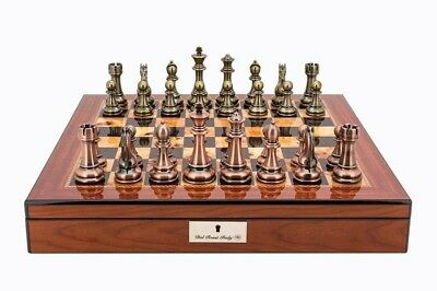Dal Rossi Italy Chess Set 50cm Walnut High Gloss. Brand New in Box.