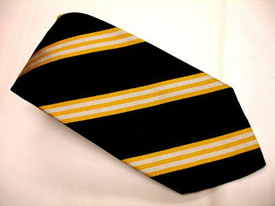 BROOKS BROTHERS Vintage Young Mans Rep Stripe All Silk Tie Woven England V/NICE